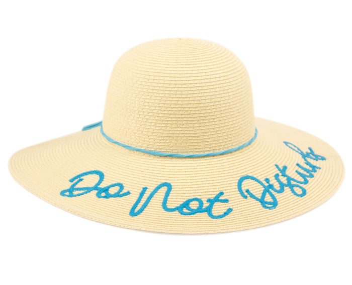 Wholesale Bulk Pack Do Not Disturb Braid Paper Straw Floppy Hats With Band GDFL2910