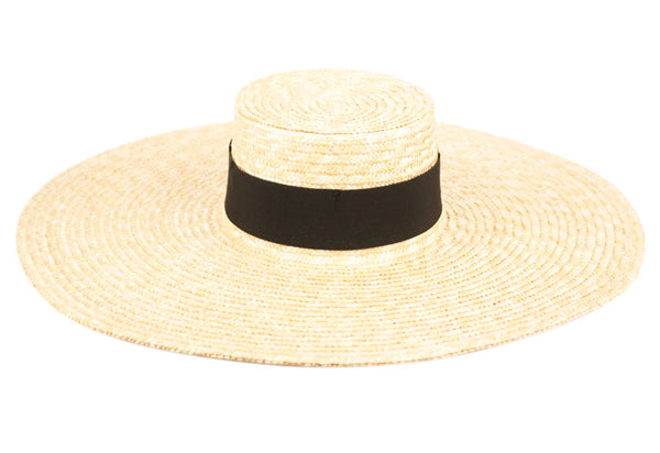 Wholesale Bulk Pack Natural Straw Wide Brim Floppy W/Grosgrain Band GDFL4027