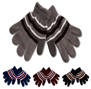 Wholesale Bulk Pack Kids Knit Stripe Glove GDGL1747