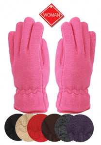 Wholesale Bulk Pack Ladies Thermal Fleece Glove GDGL2031