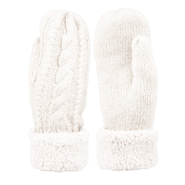 Wholesale Bulk Pack Winter Knit Mittens With Sherpa Lining GDGL3014