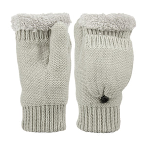 Wholesale Bulk Pack Fingerless Knit Mittens With Cover & Sherpa Lining GDGL3057