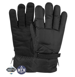 Wholesale Bulk Pack Men's Waterproof Ski Glove W/Sherpa Lining-GDP586