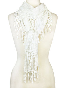 Wholesale Bulk Pack Lace scarf White Lace scarf White-GDP319