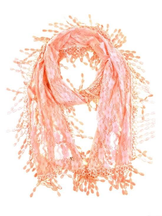 Wholesale Bulk Pack Lace scarf Pink Lace scarf Pink-GDP305