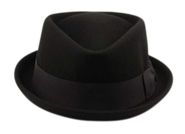 Wholesale Bulk Pack Wool Felt Fedora Hats Black-GDP3639