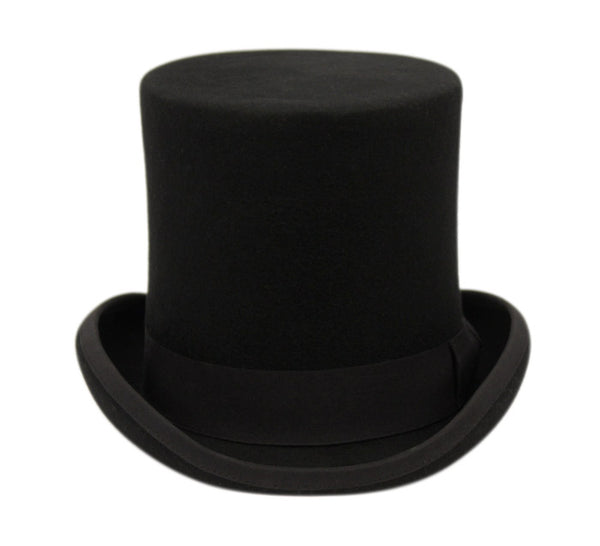 Wholesale Bulk Pack High Crown Flat-Top Felt Hats With Grosgrain Band-GDP3633