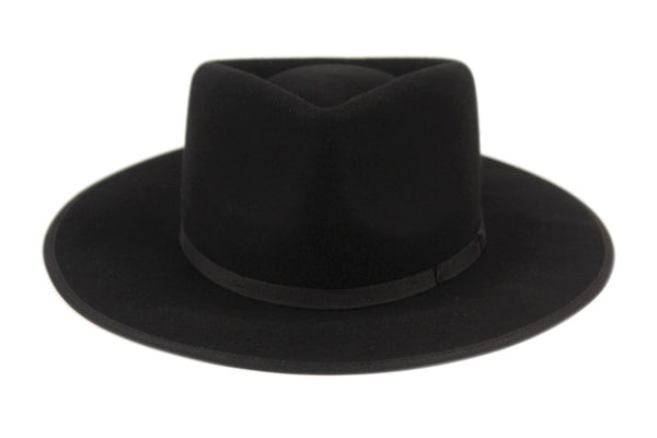 Wholesale Bulk Pack Wool Felt Flat Brim Resistol Western Hats With Band-GDP3561
