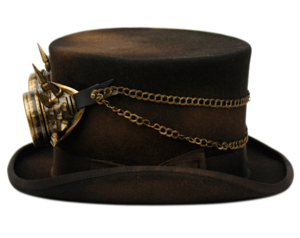 Wholesale Bulk Pack Steampunk Top Hats With Goggles-GDP3645