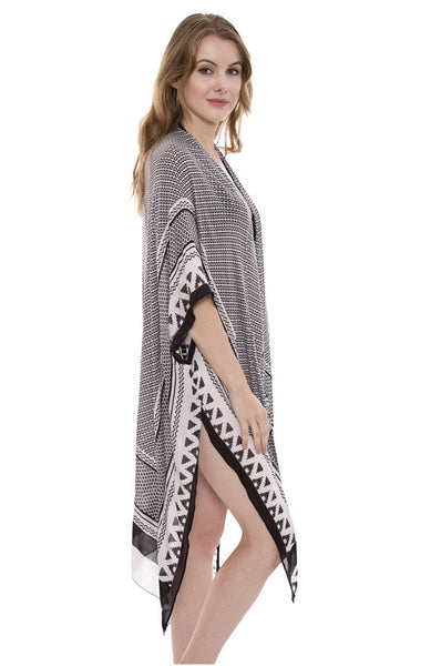 Wholesale Bulk Pack Geometric print Long Topper / Kimono-GDP479