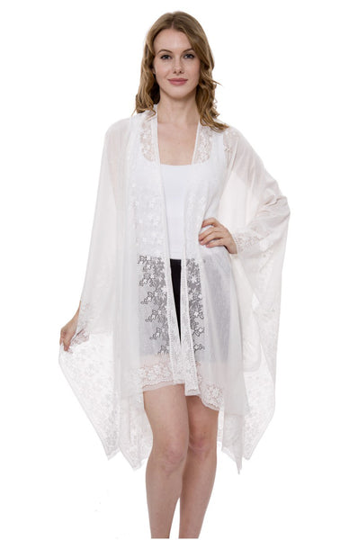 Wholesale Bulk Pack Heavy Lace Plain Color Topper / Cover-up / Kimono-GDP569