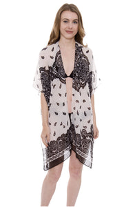 Wholesale Bulk Pack Paisley print Light Topper / Cover-Up / Kimono-GDP554