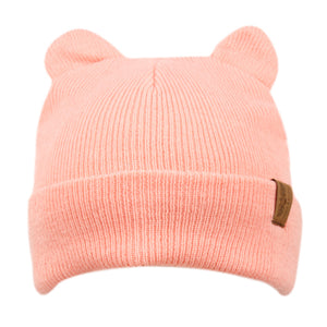 Wholesale Bulk Pack Kids Cat Ear Cable Knit Beanie-GDP2967