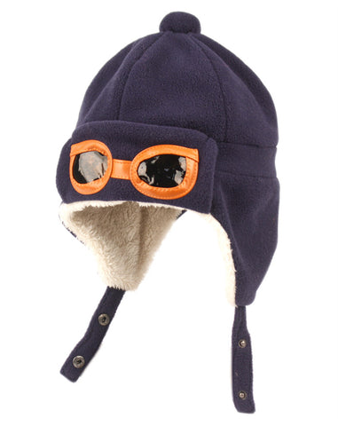 Wholesale Bulk Pack Kids Winter Aviator Trooper Hat W/Sherpa Lining-GDP206