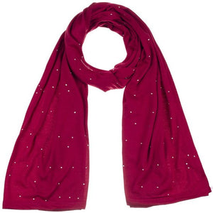 Wholesale Bulk Pack Jersey Scarves Fashion Oblong Plain Head Scarf Wrap Shawls Burgundy-GDP958