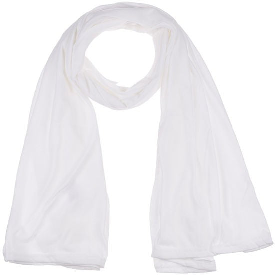 Wholesale Bulk Pack Jersey Scarves Fashion Oblong Plain Head Scarf Wrap Shawls Off White GDM11-1