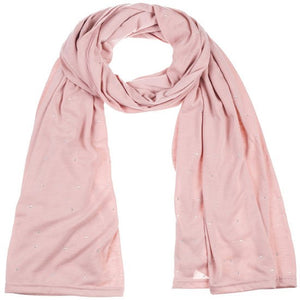 Wholesale Bulk Pack Jersey Scarves Fashion Oblong Plain Head Scarf Wrap Shawls Light Pink-GDP956