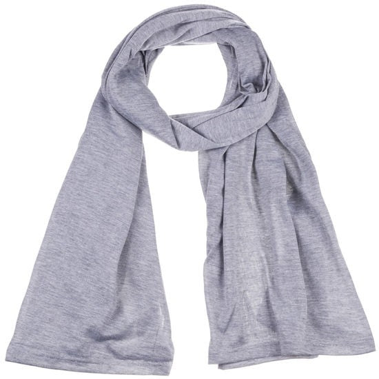 Wholesale Bulk Pack Jersey Scarves Fashion Oblong Plain Head Scarf Wrap Shawls Light Grey GDM11-41