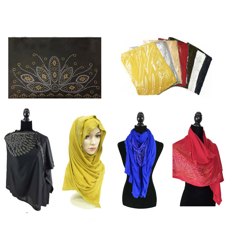 Wholesale Bulk Pack Fashion Rhinestones Jersey Scarves GDM16