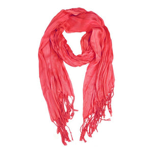 Wholesale Bulk Pack Lightweight solid color scarf Coral-GDP846