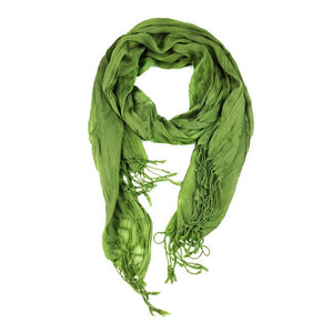 Wholesale Bulk Pack Lightweight solid color scarf Light Olive-GDP842
