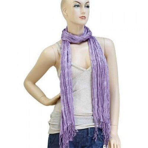 Wholesale Bulk Pack Lightweight solid color scarf Light Purple-GDP838