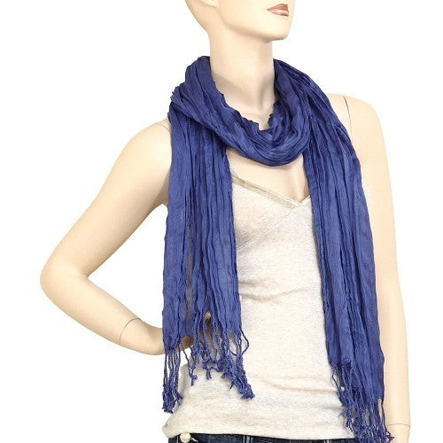 Wholesale Bulk Pack Lightweight solid color scarf Medium Navy-GDP834