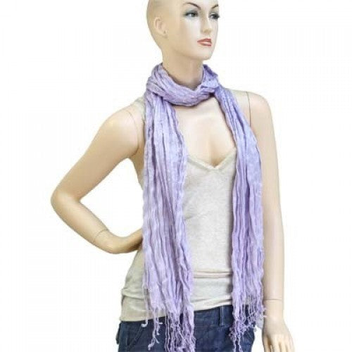 Wholesale Bulk Pack Lightweight solid color scarf Baby Purple-GDP830