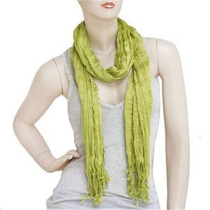 Wholesale Bulk Pack Lightweight solid color scarf Lime-GDP826