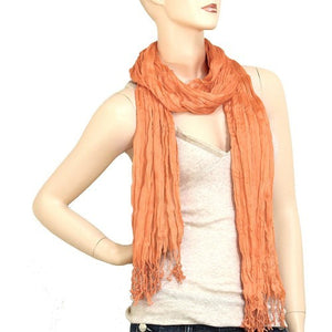 Wholesale Bulk Pack Lightweight solid color scarf Peach-GDP824