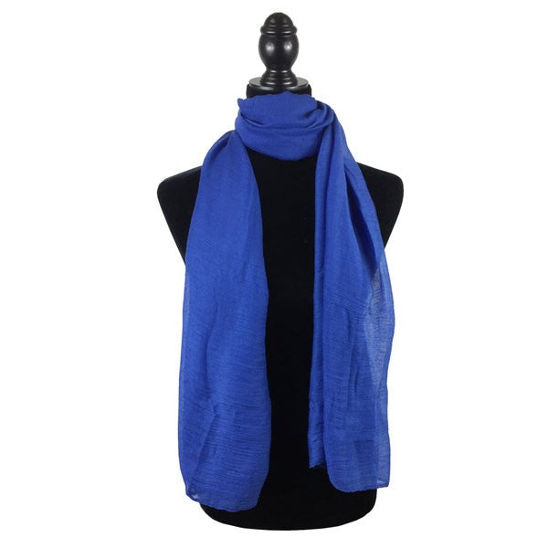 Wholesale Bulk Pack Solid Color Large Size Lightweight Scarf Blue-GDP822