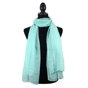 Wholesale Bulk Pack Solid Color Large Size Lightweight Scarf Light Green-GDP806