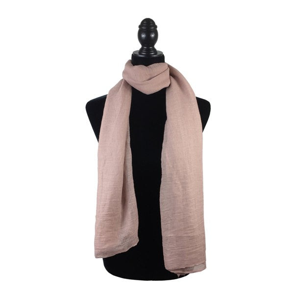 Wholesale Bulk Pack Solid Color Large Size Lightweight Scarf Pink-GDP800