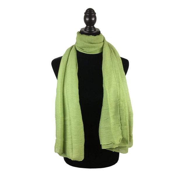 Wholesale Bulk Pack Solid Color Large Size Lightweight Scarf Green-GDP792
