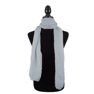 Wholesale Bulk Pack Solid Color Large Size Lightweight Scarf Light Grey-GDP790
