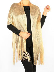 Wholesale Bulk Pack Lightweight Metallic Scarf Light Beige-GDP786