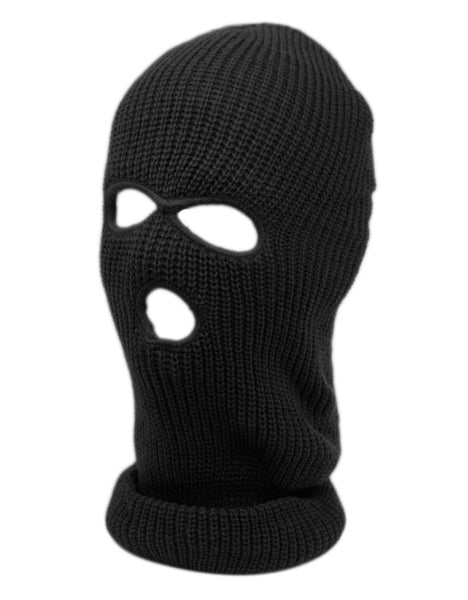 Wholesale Bulk Pack 3 Holes Knit Winter Sports Mask GDP445