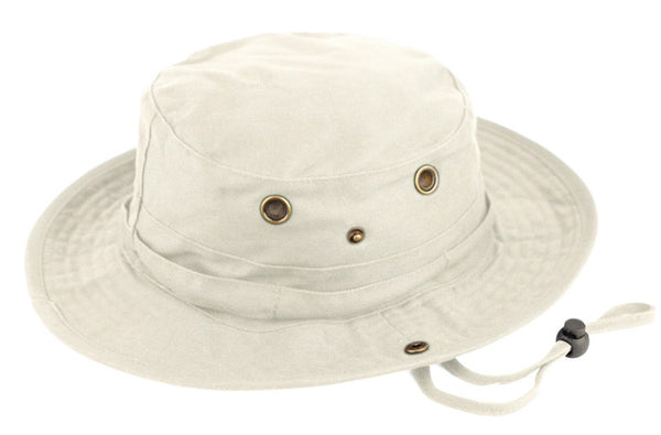 Wholesale Bulk Pack Cotton Safari Bucket Hats With Chin Cord Strip-GDP524