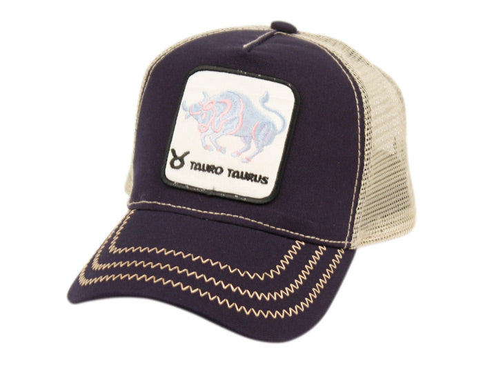 Wholesale Bulk Pack Zodiac Patch Trucker Cap With Mesh Back Crown-GDP2679