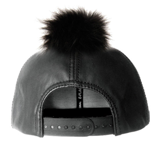 Wholesale Bulk Pack Fashion Faux Leather Cap With Pom Pom-GDP2122