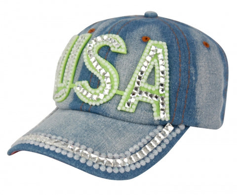 Wholesale Bulk Pack Fashion Crystal Usa Cap-GDP2323
