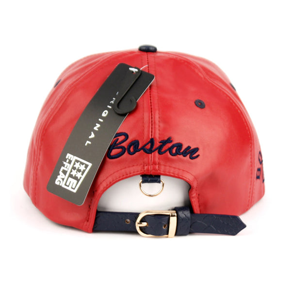 Wholesale Bulk Pack Faux Leather Caps With Boston-GDP2362
