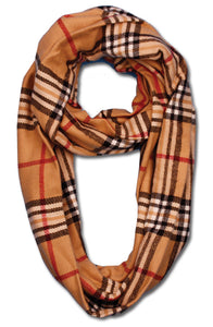 Wholesale Bulk Pack Plaid Neck Warmer Loop Infinity Scarves GDSC1799 K