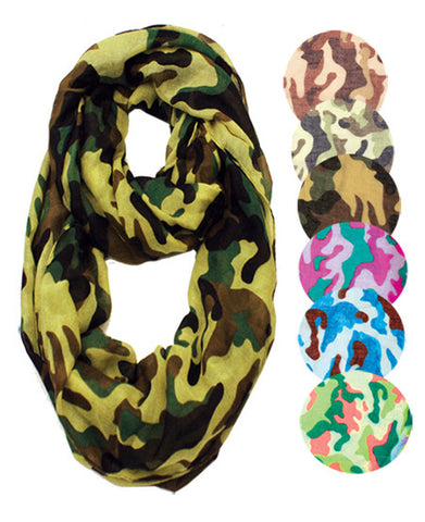 Wholesale Bulk Pack Camouflage Infinity Scarves GDSC1898