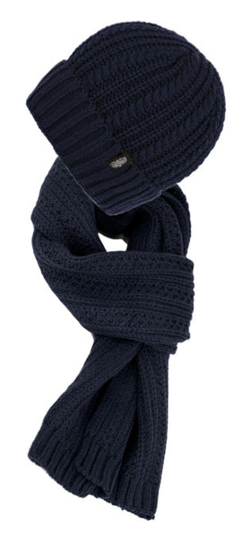 Wholesale Bulk Pack Chunky Cable Knit Beanie With Matching Scarf-GDP2869