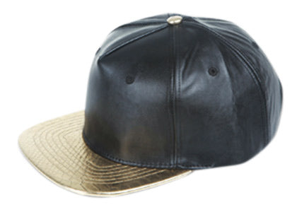 Wholesale Bulk Pack Two Tone Faux Leather Strapback Caps-GDP2190