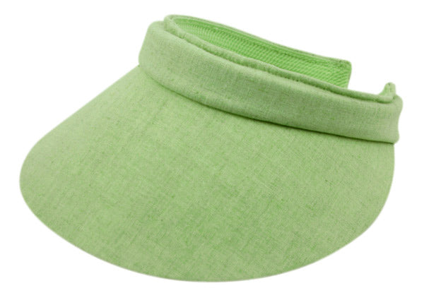 Wholesale Bulk Pack Cotton Solid Color Clip Visor-GDP1912