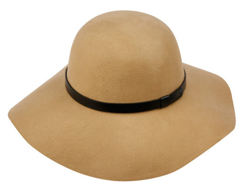 Wholesale Bulk Pack Ladies Wool Felt Floppy Hats With Leather Band GDWFL2166
