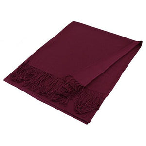 Wholesale Wine Solid Pashmina Scarf-GDP1413