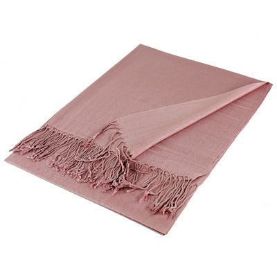 Wholesale Pink Solid Pashmina Scarf-GDP1409